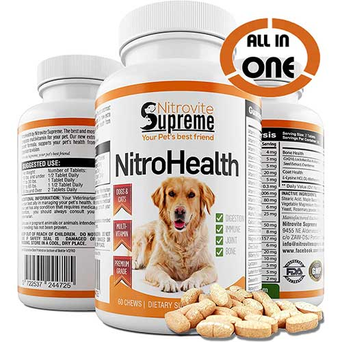 4. NitroHealth Tablet Treats. All in One Multivitamin & Supplement for Dogs & Cats