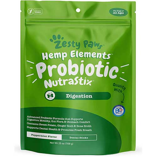 2. Zesty Paws Probiotic Dental Sticks for Dogs
