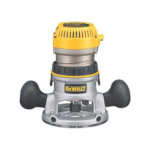 Best Woodworking Routers 4. DEWALT DW618 2-1/4 HP Electronic Variable-Speed Fixed-Base Router