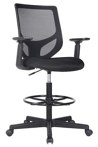 6. Smugdesk Drafting Chair Tall Office Chair for Standing Desk Drafting Mesh Table Chair with Adjustable Armrest and Foot Ring