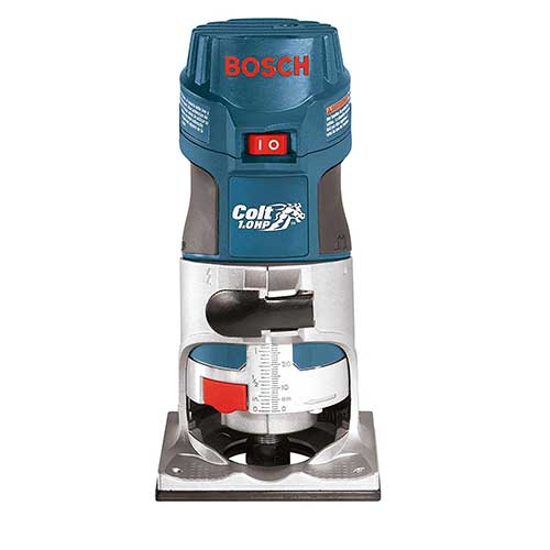 Best Woodworking Routers 6. Bosch Colt 1-Horsepower 5.6 Amp Electronic Variable-Speed Palm Router PR20EVS