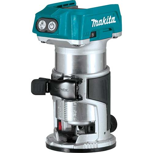Best Woodworking Routers 7. Makita XTR01Z 18V LXT Lithium-Ion Brushless Cordless Compact Router