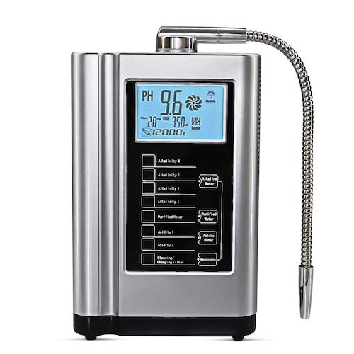 8. AquaGreen Alkaline Water Ionizer Machine AG7.0 Silver, Up to -500mV ORP,6000 Liters Per Filter, Auto-Cleaning