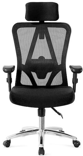 9. Ticova Ergonomic Office Chair with Adjustable Headrest, Armrest and Lumbar Support - Reclinable Computer Desk Chair