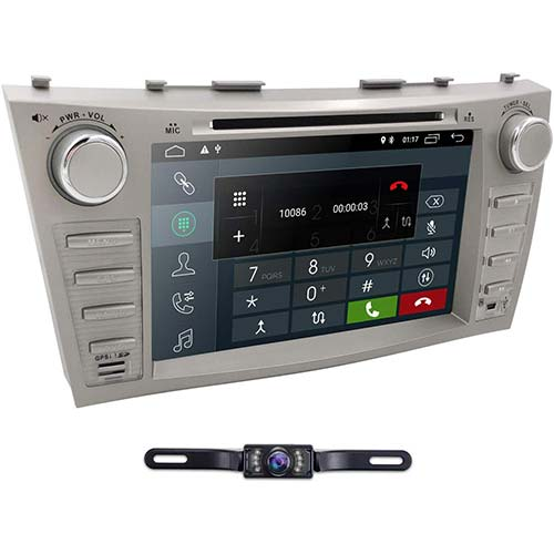 2. Hizpo Car DVD Player for Toyota Camry 2007 2008 2009 2010 2011 Android 9.0 Quad Core 8 Inch Screen GPS Navi BT Radio