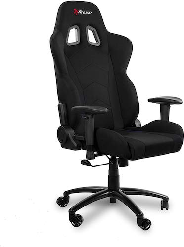 8. Arozzi Inizio Ergonomic Fabric Gaming Chair with High Back, Rocking & Recline Function - Black