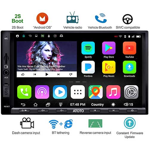 1. ATOTO A6 Double Din Android Car Navigation Stereo with Dual Bluetooth - Standard A6Y2710SB 1G/16G Car Entertainment Multimedia Radio, WiFi/BT Tethering Internet, Support 256G SD &More