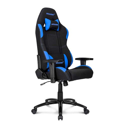 4. AKRacing Core Series EX-Wide Gaming Chair with Wide Seat, High and Wide Backrest, Recliner, Swivel, Tilt, Rocker - Black/Blue