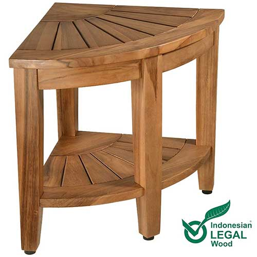 8. Teak Shower Bench, Teak Shower Stool, 18
