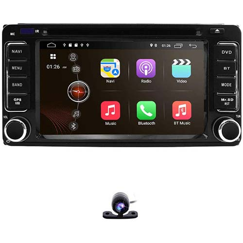 1. hizpo 6.2 Inch 2 Din Car Navigation Android 9.0 Touch Screen DVD Player AM FM Radio