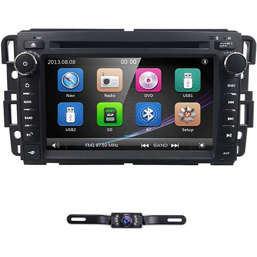 9. hizpo Car Navigator 7 Inch Double Din Touch Screen in Dash Car DVD Player Stereo