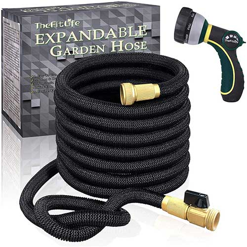 1. TheFitLife Flexible and Expandable Garden Hose