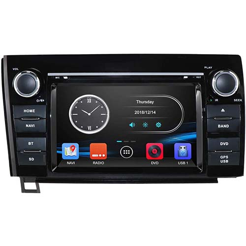 8. hizpo 7 Inch Car Stereo DVD Player in Dash GPS Navigation Touch Screen