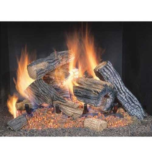 3. Sure Heat BRO24NG Sure Heat Burnt River Oak Vented Gas Log Set, 24-Inch, Natural Gas