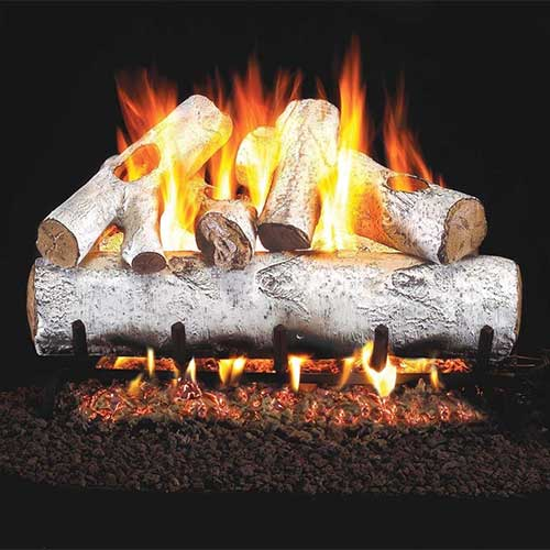 6. RealFyre White Birch Vented Gas Logs (W-24), 24-Inch