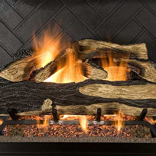 1. Sure Heat SH18DBNG Sure Heat Seasoned Hickory Dual Burner Vented Gas Log Set, 18-Inch, Natural Gas