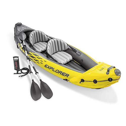 1. Intex Explorer K2 Kayak, 2-Person Inflatable Kayak Set with Aluminum Oars and High Output Air Pump