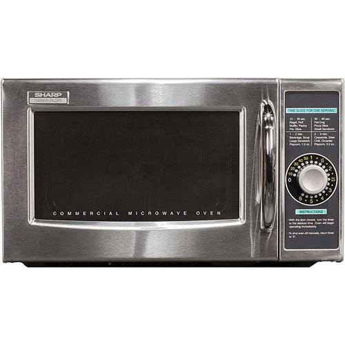 10. Sharp R-21LCFS Medium Duty Commercial Microwave
