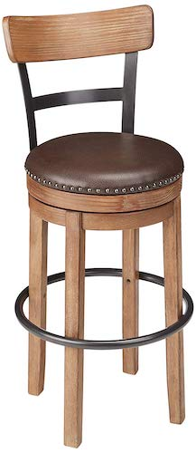 7. Ashley Furniture Signature Design - Pinnadel Swivel Bar Stool