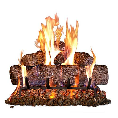 5. Peterson Real Fyre 24-inch Live Oak Log Set With Vented Burner, Match Lit (Natural Gas Only)