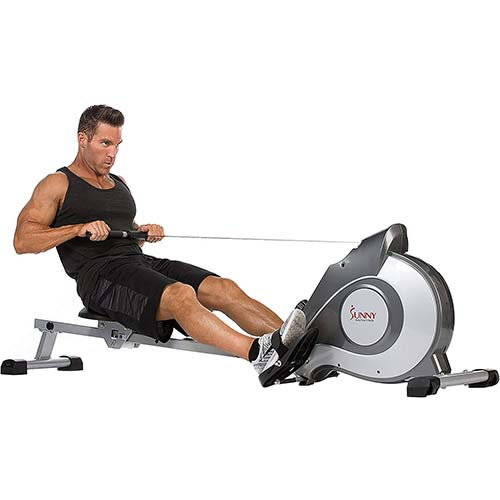 1. Sunny Health & Fitness Magnetic Rowing Machine - SF-RW5515