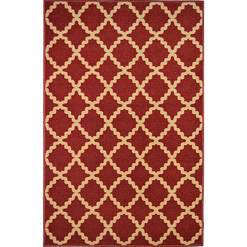 5. ADGO Non-Slip Rug Collection Rubber Back Washable Non-Skid Area Rugs