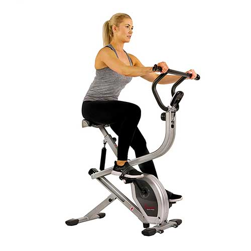 9. Sunny Health & Fitness Exercise Bike 2-in-1 Upright Bike and Rowing Machine - SF-B2620