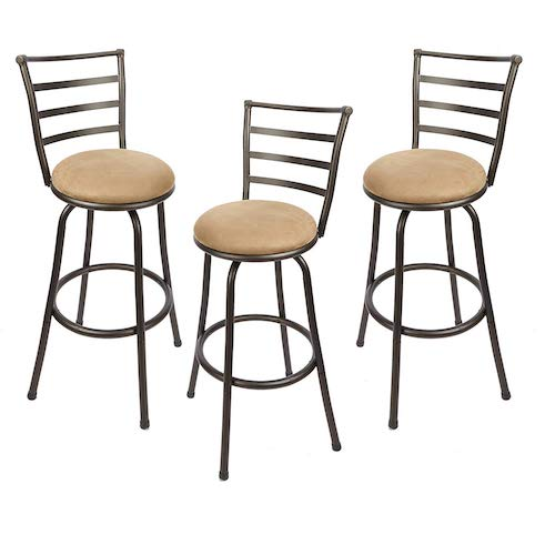 1. Adjustable-Height Swivel Barstool