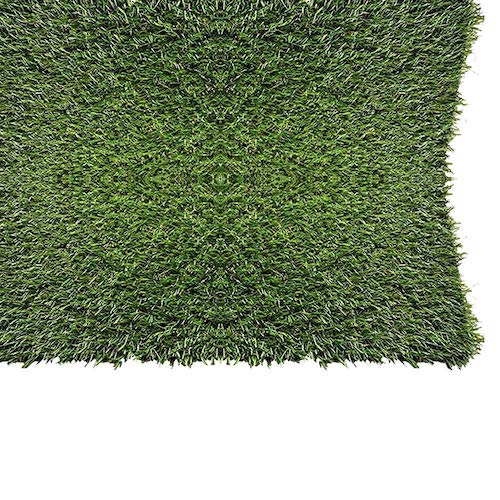 10. PZG 1-inch Artificial Grass Patch w/Drainage Holes & Rubber Backing