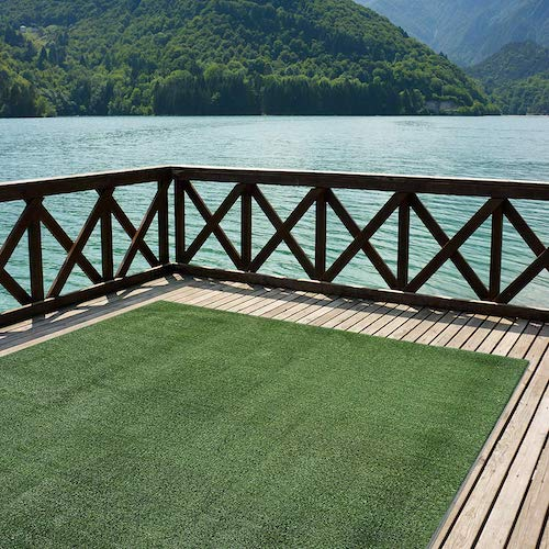 7. Indoor/Outdoor Turf Rugs and Runners in Green 12' X 8' Low Pile Artificial Grass in Many Custom Sizes and Widths with Finished Edges