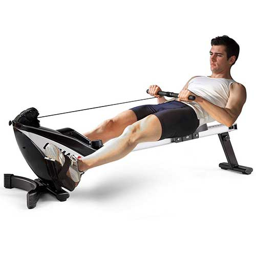 2. GOPLUS Magnetic Rowing Machine Folding Rower