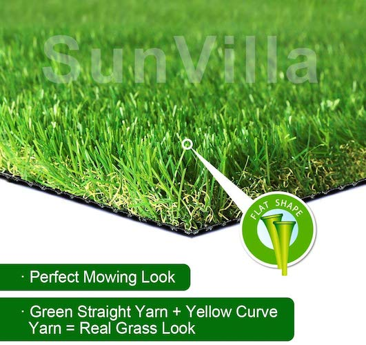 1. SunVilla SV7'X13' Realistic Indoor/Outdoor Artificial Grass/Turf 7 FT X 13 FT (91 Square FT)