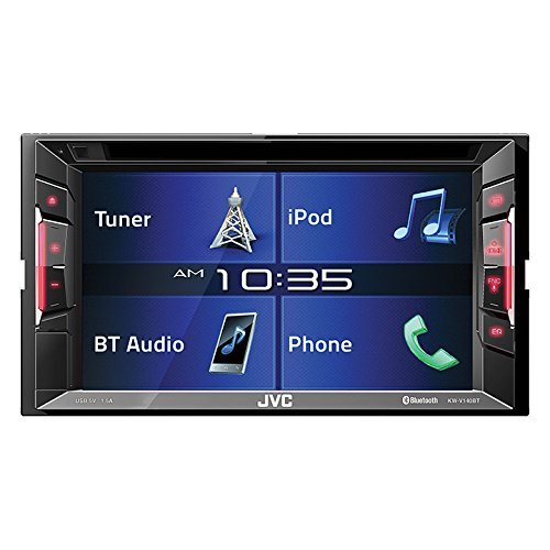 10. JVC KWV140BT Double Din BT in-Dash DVD/CD/Am/FM Car Stereo W/6.2 Touchscreen