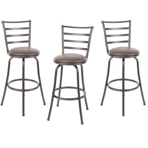8. Mainstays Adjustable-Height Swivel Barstool