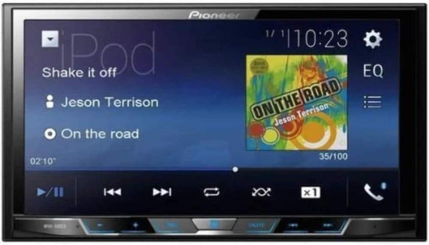 7. Pioneer MVH-300EX Double Din Digital Multimedia Video Receiver