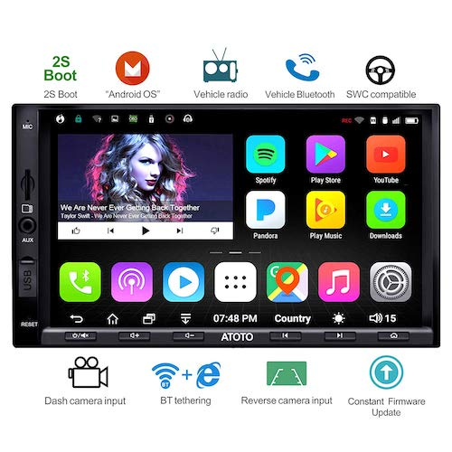 4. ATOTO A6 Double Din Android Car Navigation Stereo