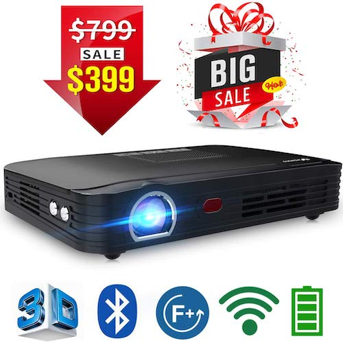 1. WOWOTO T8E Full HD Mini Portable Projector WiFi & Bluetooth Support for Gaming Business & Education