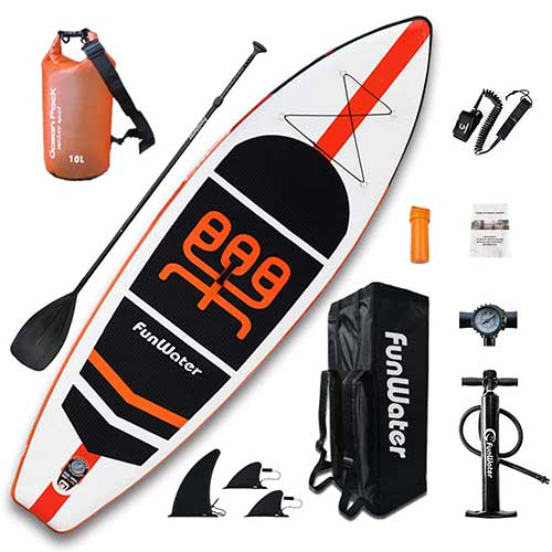 5. FunWater Inflatable Stand Up Paddle Boards 11'×33