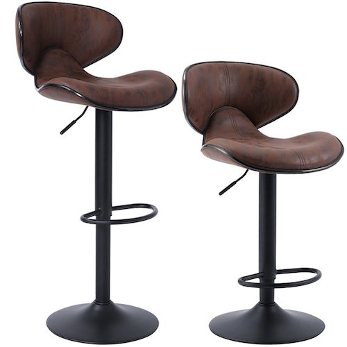 3. SUPERJARE Set of 2 Adjustable Bar Stools