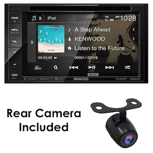 "8. Kenwood Audio DDX26BT 6.2"" Double Din Bluetooth WVGA Touch Screen DVD Receiver w/HD Rear View Camera"