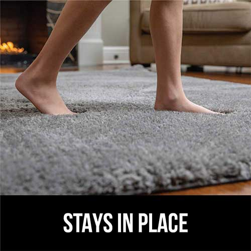 10. Gorilla Grip Original Faux-Chinchilla Nursery Area Rug, 4x6 Feet, Super Soft and Cozy High Pile Washable Carpet, Modern Rugs for Floor, Luxury Shag Carpets for Home Bed and Living Room, Dark Gray