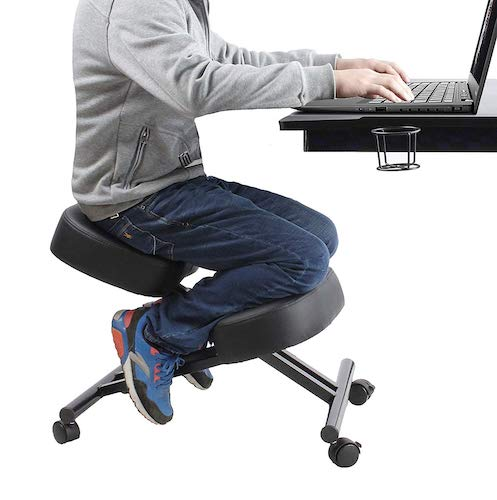 5. Ergonomic Kneeling Chair Home Office Chairs Thick Cushion Pad Flexible Seating Rolling Adjustable Work Desk Stool