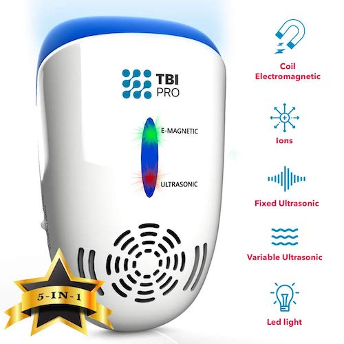 6. UPGRADED Ultrasonic Pest Repeller Wall Plug-in - Most Effective 2019 Electromagnetic & Ionic Indoor Anti Mouse, Ant, Mosquito, Cockroach Control
