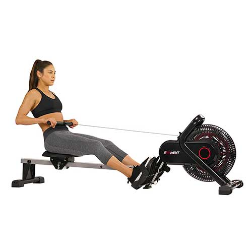 4. EFITMENT Aero Air Fan Rowing Machine Rower w/Monitor - RW036