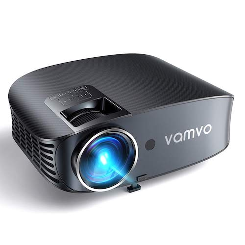 5. Video Projector, Outdoor Movie Projector with 200