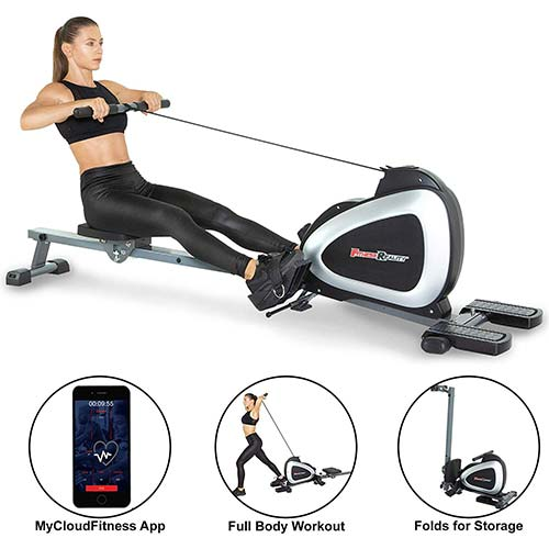 2. Fitness Reality 1000 Plus Bluetooth Magnetic Rower Rowing Machine