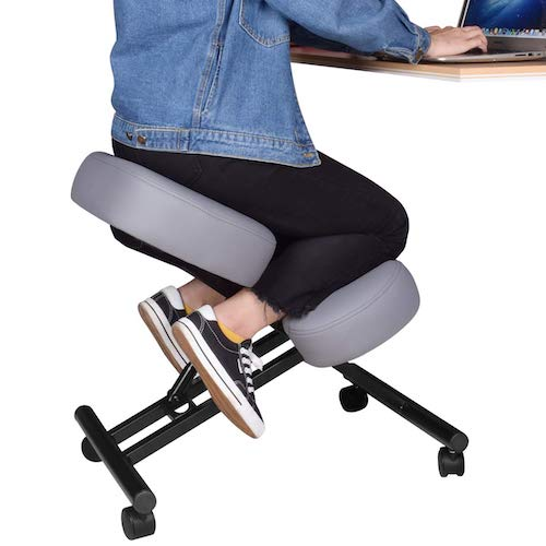 2. Ergonomic Kneeling Chair, Adjustable Stool for Home and Office - Improve Your Posture with an Angled Seat