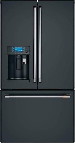 8. Ge Cafe CYE22UP3MD1 Matte Collection Series 36 Inch Counter Depth French Door Refrigerator