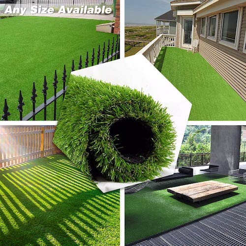 9. • Petgrow • Artificial Grass Turf 3.3FTX5FT, 70 oz Face Weight, Drainage Holes & Rubber Backing