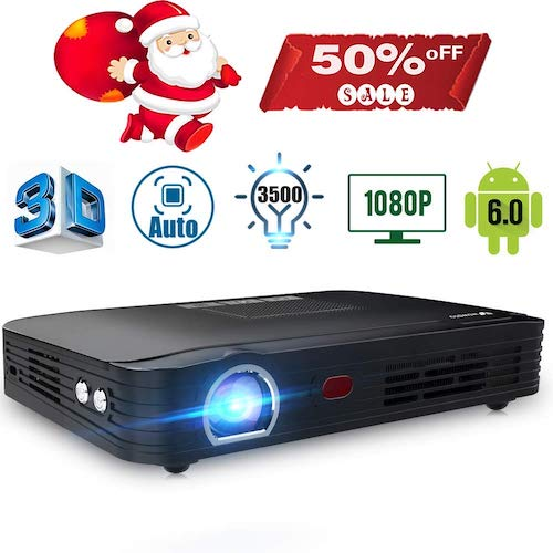 10. Projector 3500 lumens Mini Portable DLP 3D Video Projector Max 300 '' Home Theater Projector